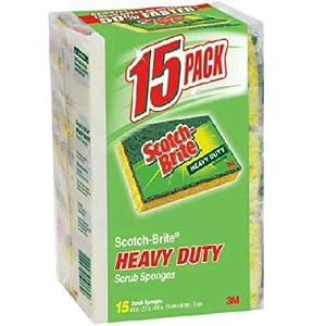 Scotch-Brite Heavy Duty Scrub Sponges 15 Count