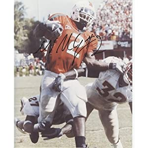 Willis McGahee Autographed Miami Hurricanes (Orange Jersey vs FSU) 8x10 Photo