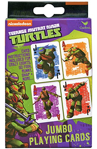 Teenage Mutant Ninja Turtles Jumbo Playing Cards - TMNT Card Deck teenage mutant ninja turtles action figure 6 pcs set decoration collection gift