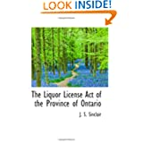 The Liquor License Act of the Province of Ontario