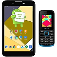 I KALL IK2(3G+Wifi Voice Calling) Tablet(Black) With K11 Feature Phone(Blue)