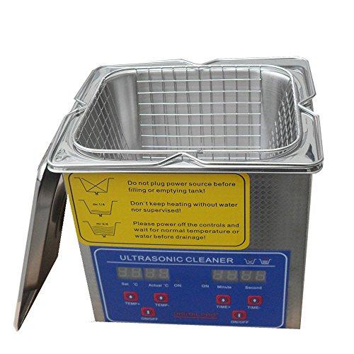 Bestim Bracket Lab Stainless Steel 2L Ultrasonic Cleaner Heater Timer