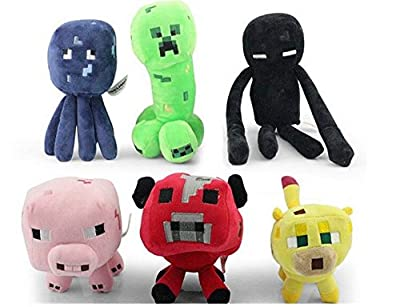 Hot Sale 6pcs/lot Minecraft Dolls Minecraft Mc Plush Toys,enderman Creeper Bull Pig Squid and Leopard Cat Stuffed Toys.baby Toys from Chaina