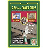 Indoor/Outdoor Eave Grip Clips Light Hooks, 25-Pack ~ St. Nicks Choice