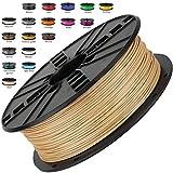 Melca 1.75 3D Printer Filament PLA 1kg +/- 0.03mm, Brown / Wood Colored (#955F20)