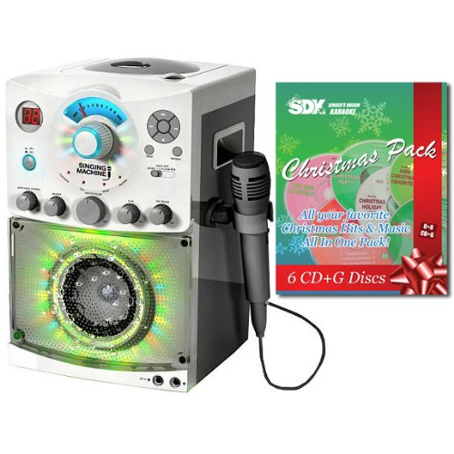 Singing-Machine-SML-385W-Karaoke-Machine-With-Disco-Light-Christmas-Songs-Pack