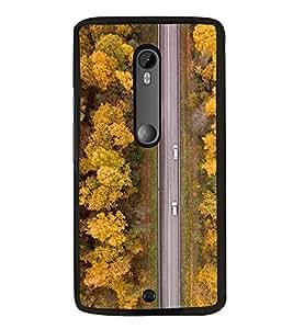 Road 2D Hard Polycarbonate Designer Back Case Cover for Motorola Moto X Style :: Moto X Pure Edition