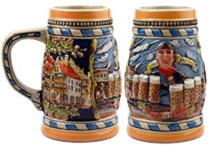 German Oktoberfest Munich Embossed Beer Stein from Dutch Novelties