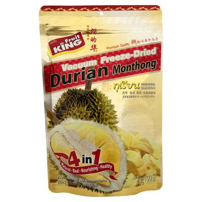 Fruit King Vacuum Freeze Dried Crispy Durian Monthong 100g. X 1 Sachet (Fruit King compare prices)