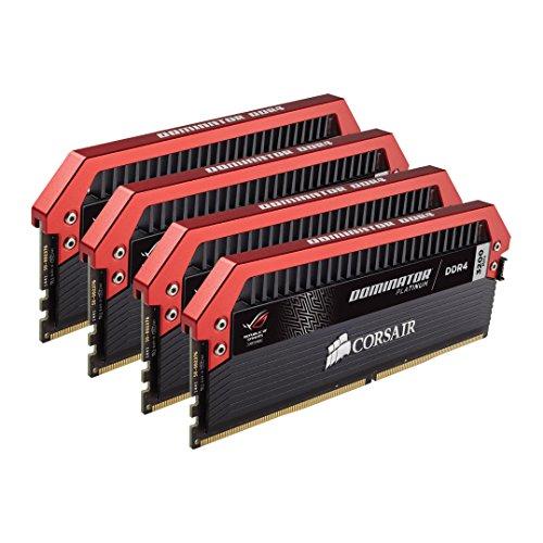 Corsair DOMINATOR Platinum Series 16 GB DDR4 3200 C16 Red Top Bar Memory Kit 2400 MT/s CMD16GX4M4B3200C16-ROG (Corsair Memory Fan compare prices)