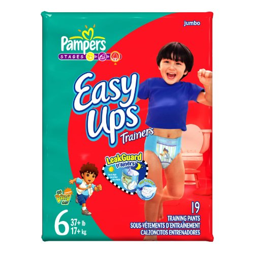 Pampers Easy-Ups Diapers, Boys, Size 6, 19-Count