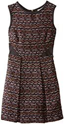 kc parker Big Girls' Pleated Dress with Solid Insets
