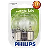 Philips 1156LLB2 LongerLife Miniature Bulb, 2 Pack (Color: CLEAR)