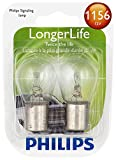 Philips 1156 LongerLife Miniature Bulb, 2 Pack