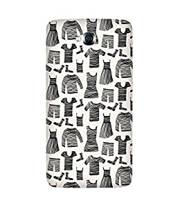 Black Striped CLothes-1 LG G Pro Lite Printed Back Cover