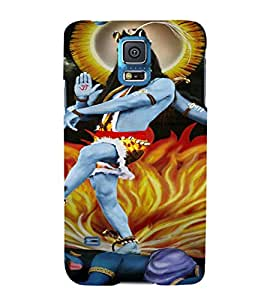 EPICCASE Lord Shiva Mobile Back Case Cover For Samsung Galaxy S5 Mini (Designer Case)