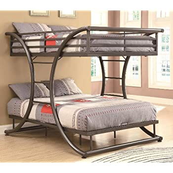 Coaster Home Furnishings 460078 Bunk Bed, Gunmetal