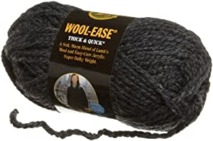 Lion Brand Yarn 640-149 Wool-Ease Thick and Quick Yarn, Charcoal