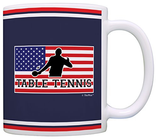 Table Tennis Accessories American Pride Table Tennis Ping Pong Gift Coffee Mug Tea Cup Flag (Medal Tabletop Tennis compare prices)