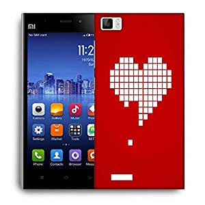 Snoogg Heart Breaking Designer Protective Phone Back Case Cover For Xiaomi Mi 3