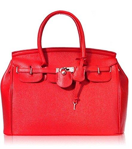 Maison De Decoration©Sac à main rouge d'emballage de clef de cadenas de cuir de vache à Hobo de la nouvelle conception des femmes élégantes (rouge)