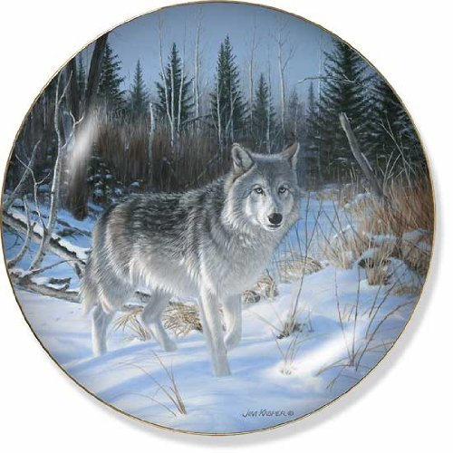 Wolf Collector by Jim Kasper 8.25 inch Decorative Collector Plate