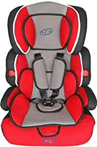 Bebe Style Deluxe Group 1 2 3 Childs Car and Booster Seat (Red)
