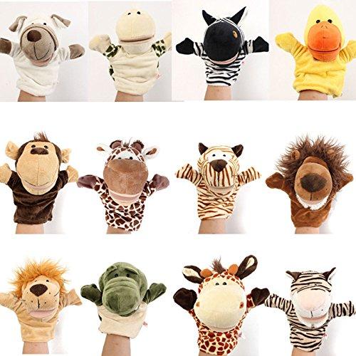 Pink-Lizard-Cute-Cartoon-Animal-Doll-Children-Kid-Gloves-Hand-Puppet-Fingers-Velour-Soft-Plush-Speaking-Story-Telling-Toys