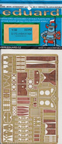EDU32342 1:32 Eduard PE - B-17G Flying Fortress Undercarriage Detail Set (for the HK Model model kit) MODEL KIT ACCESSORY