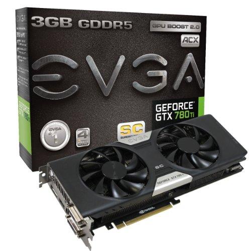 EVGA GeForce GTX 780 Ti Superclocked w/ACX Cooler 3GB GDDR5 384bit Dual-Link DVI-I DVI-D HDMI DP SLI Graphics Cards 03G-P4-2884-KR (Gtx 780 Ti Sc compare prices)