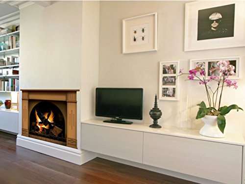N1241 Fireplace vinyl sticker, wallpaper decoration,Wall Stickers Graphics Vinyl Decal (Fireplace Border compare prices)