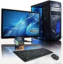 VIBOX Centre Paquet 10 - 3.9GHz Rapide Desktop Ordinateur de Bureau (3.7GHz (3.9GHz Turbo) AMD A4 6300 Dual Core CPU, Radeon HD8370D GPU, 1To HDD, 8 Go 1600MHz RAM, 85+ 500W PSU, DVD-RW, Noir et Blu)