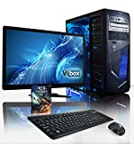"VIBOX Centre Package 10 - 4.0GHz Multimedia, Desktop PC, Computer, Complete Full Package for the Home, Office or Family with WarThunder Game Bundle, 22"" Widescreen Monitor, Keyboard & Mouse, Neon Internal LED Lighting Kit PLUS a Lifetime Warranty Included* (New 3.8Ghz (4.0GHz Turbo) AMD A4 6320 Dual Core CPU Processor, Integrated Radeon HD 8370D Gaming Graphics Card Chip, 1TB SATA III Hard Drive, 8GB 1600MHz High Speed RAM Memory, Gamer Case, DVD-RW, No Operating System Included)"