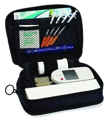 "Everyday Diabetes Organizer by Medport - measures: 7 1/2"" long x 5 1/2"" wide x 2 1/4"""