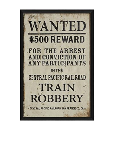 The Artwork Factory Wanted For Train Robbery Framed Art