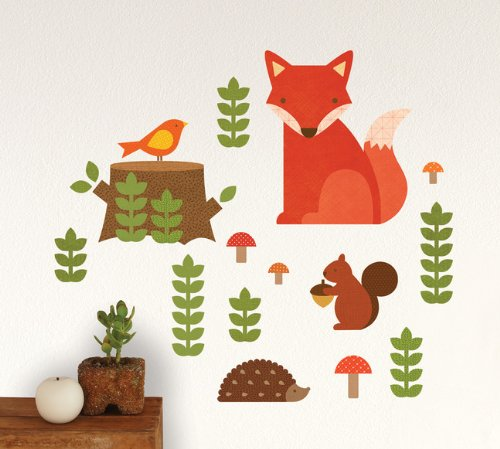Petit Collage Fabric Wall Decal, Woodland front-339250