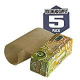 Greengo Natural Rolling Paper Rolls Wide 53mm Genuine Unbleached Chlorine Free 100 Natural Arabic Gum with an ideal thickness of 14 gm2 for the Best Pure and Natural Smoking Experience Made in Europe from Sustainable Sources 5 Pack of Paper Rolls 4 meter