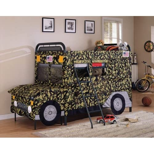 Amazon GI Joe jeep camouflage twin twin bunk bed set