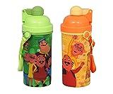 Nicklodeon Push Button Nick Motu Patlu High Quality Sipper Water Bottle, 600Ml, Set Of 2