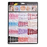 Ouneed® 144 pcs Faux Ongles Mains Tattoo (C)...