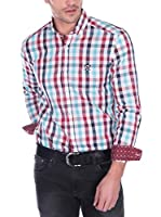 SIR RAYMOND TAILOR Camisa Hombre Bite (Blanco / Burdeos)