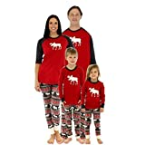 Norbi Parent-Child Family Christmas Clothes Sleepwear Mom Dad Deer Striped Pajamas Set