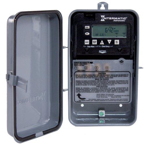 Intermatic Et8015Cr 7-Day 30-Amps Spst Electronic Astronomic Time Switch, Clock Voltage 120-Volt - 277-Volt Nema 3R