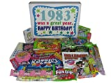 80s Retro Nostalgic Candy Decade 30th Birthday Gift Box: Born 1983