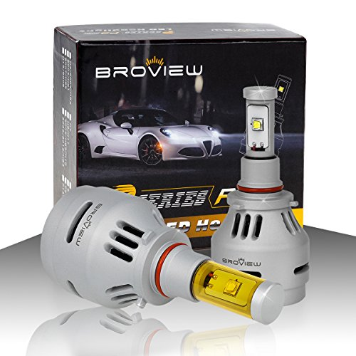 BROVIEW P3 LED Headlight Bulbs w/Clear Focused Beam 3 Colors All in One Kit - 9005 HB3 H10 40W 5,000LM 3000-8000K Cree w/Fan Headlamp Conversion Replace HID&Halogen -1 Yr Warranty -(2pcs/set) (1994 Honda Prelude Body Kit compare prices)