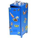 Boys Rule BLUE Mini Locker With Magnets And FIVE Bonus Dice Bundle