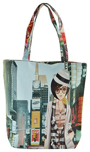 Walson Rubber Multi-Colour Reusable Shopper Bag (WB029)