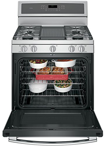 GE-Profile-PGB911ZEJSS-30-Freestanding-Gas-Range-with-with-56-cu-ft-Capacity-5-Burners-in-Stainless-Steel