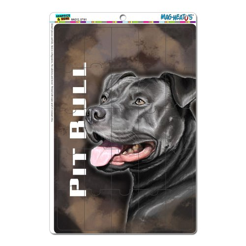 Graphics And More Pit Bull Blue Nose American Staffordshire Terrier Dog Pet Mag-Neato'S Locker Refrigerator Vinyl Puzzle Magnet Set front-631414