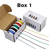 Striveday™Flexible Silicone Wire 24awg Electric wire 24 gauge Coper Hook Up Wire 300V Cables electronic stranded wire cable electrics DIY BOX-1